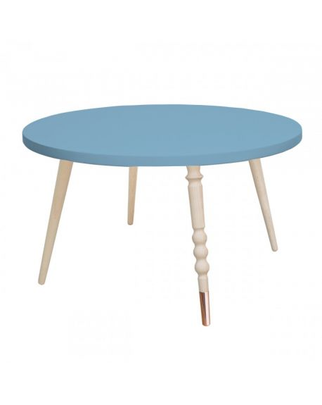 Jungle by jungle - Table d'appoint My Lovely Ballerine Ø 60 cm - Bleu