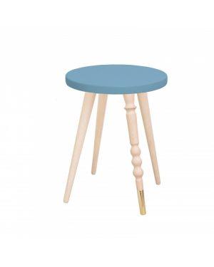 Jungle by jungle - Jungle by jungle - Table d'appoint design - Tabouret - Chevet - My Lovely Ballerine - Hêtre - Bleu