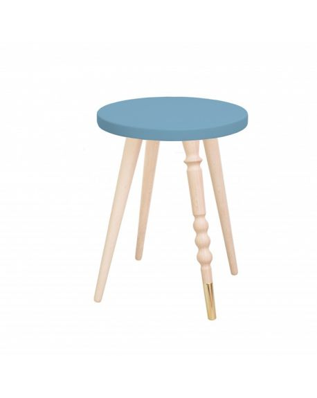 Jungle by jungle - Table d'appoint design - Tabouret - Chevet - My Lovely Ballerine - Hêtre - Bleu