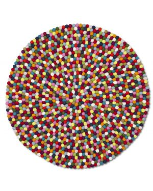 HAY - PINOCCHIO MULTICOLORE - Round rug for kids (and more) 2 dimensions