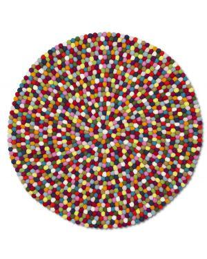HAY - PINOCCHIO MULTICOLORE - Tapis design rond en laine pour enfants 2 dimensions