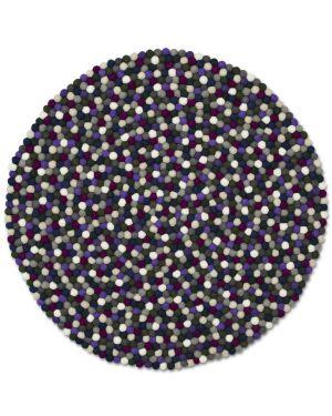 HAY - PINOCCHIO TAPIS DESIGN ROND EN LAINE - Purple/Black