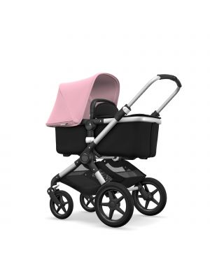 BUGABOO - FOX - Evolutive - Base ALU - Style set NOIR - Capote ROSE PÂLE