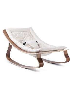 CHARLIE CRANE - Baby Rocker Levo Walnut White cushion