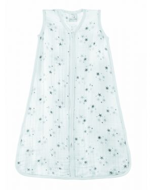 ADEN + ANAIS - Light sleeping bag Twinkle Grey Stars print