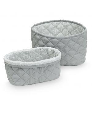 CAM CAM COPENHAGEN - Quilted Storage Basket - Set of two - Grey