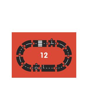 Way to Play - Circuit de voiture flexible -12 pièces