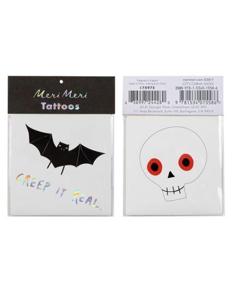 Meri Meri - Tatouages Halloween - Pack de 2