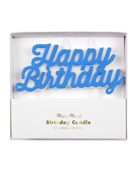 Meri Meri - Happy Birthday Candle