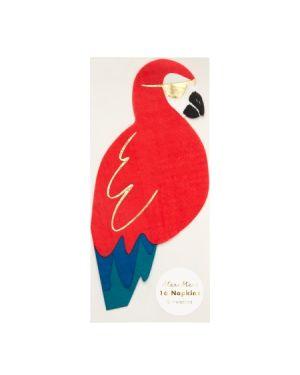Meri Meri - Serviettes perroquet - x 16 -