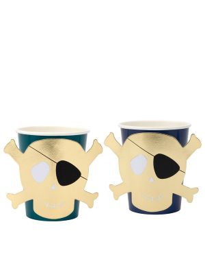 Meri Meri - Pirates Bounty Party Cups - Set of 8