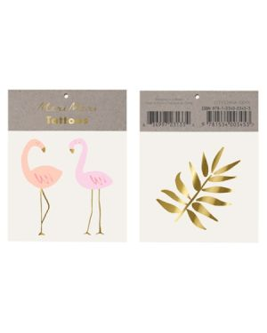 Meri Meri - Tatouages flamant rose - Pack de 2