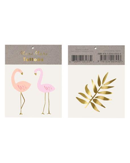 Meri Meri - Flamingo Tattoos - Pack of 2