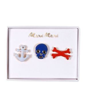 Meri meri - Broches Pirates - x 3