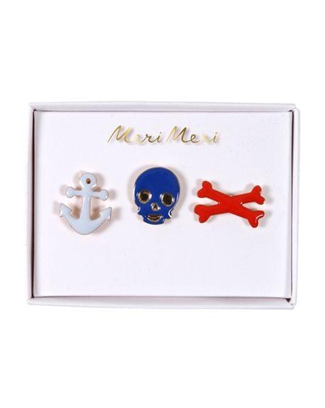 Meri meri - Broches Pirates - x 3