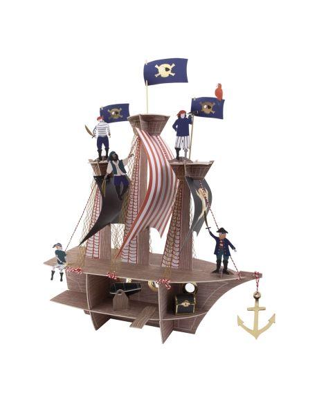 Meri Meri - Centre de Table - Bateau de Pirates