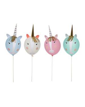 Meri Meri - Kit Ballons licorne - Set de 4 ballons