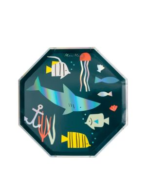 Meri Meri - UNDER THE SEA Large Plates - Set of 8