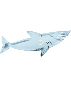 Meri Meri - Grandes Assiettes Requins - Lot de 6