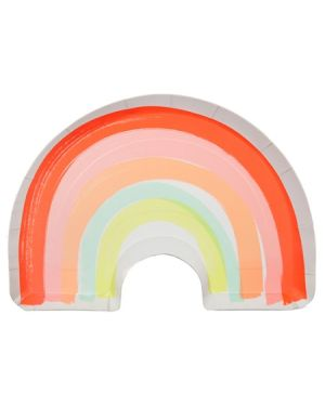 Meri Meri - Rainbow Plate - Pack of 12