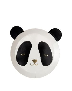 Meri Meri - Assiettes Panda - Lot de 6