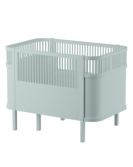 SEBRA - Baby and junior bed 0-7 years old - mist green