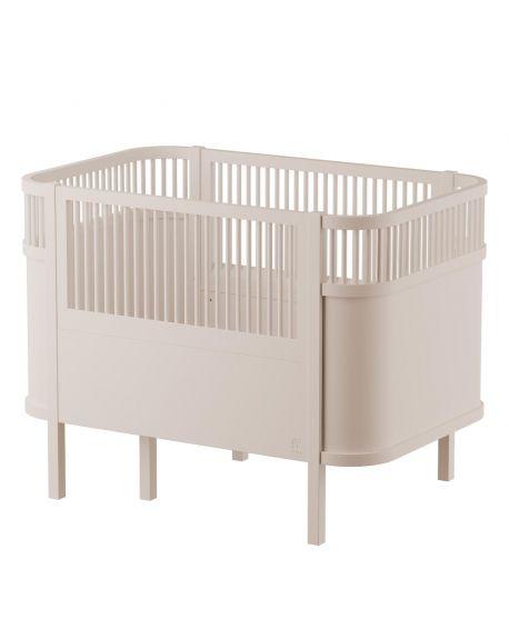 SEBRA - Baby and junior bed 0-7 years old - birchbark beige