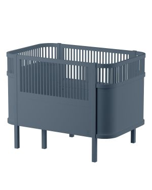 SEBRA - Baby and junior bed 0-7 years old - forest lake blue