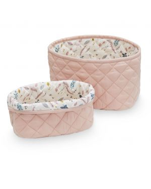 CAM CAM COPENHAGEN - Quilted Storage Basket - Set of two - Blossom Pink