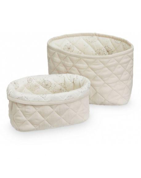 CAM CAM COPENHAGEN - Quilted Storage Basket - Set of two - Light Sand