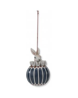 Konges Sløjd - Noel Rabbit Decoration - Navy