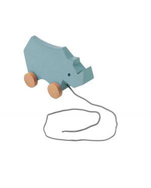 SEBRA - jouet à tirer - Rhino - Bleu