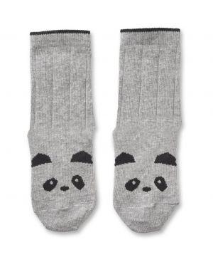 Liewood - Silas Cotton socks - Panda grey melange