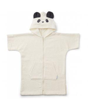 Liewood - Poncho Lela Panda - Blanc
