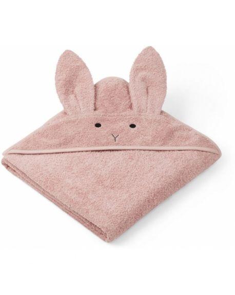 Liewood - Augusta Hooded Towel Rabbit - Pink