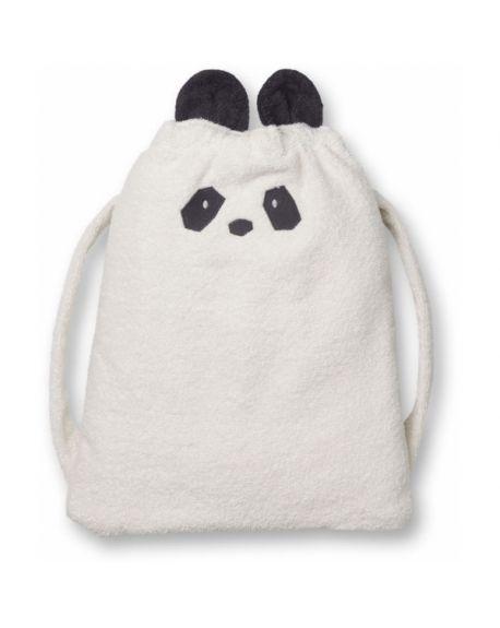Liewood - Thor towel back pack Panda - White