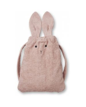 Liewood - Thor towel back pack Rabbit - Rose