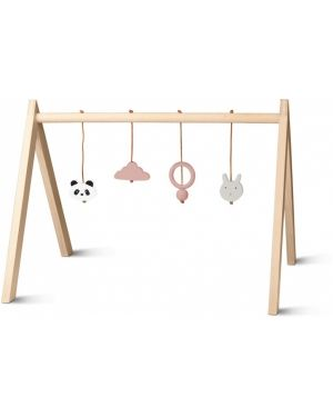Liewood - Arche d'éveil en bois avec jouets - Rose