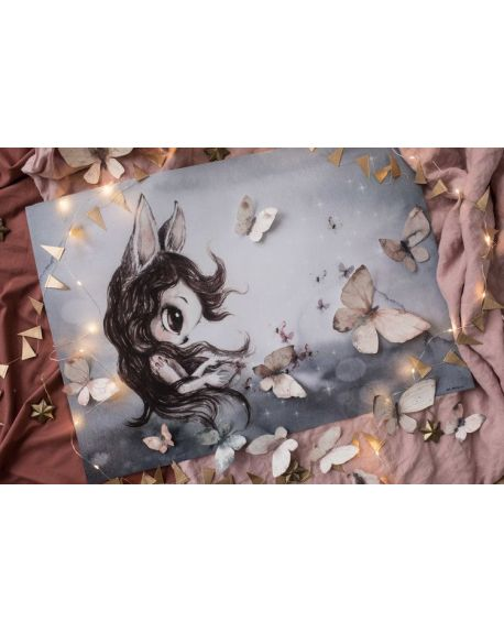 """MRS. MIGHETTO - Affiche """"Miss Della"""" 50x70 cm"""