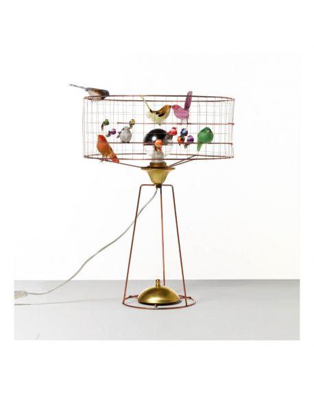 MATHIEU CHALLIERES Adjustable Large Drum Birdbage Lamp