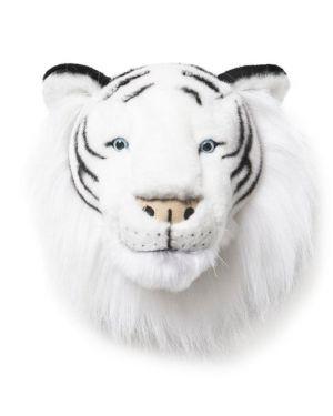 WILD & SOFT - Trophée en peluche -Tête Tigre Blanc- Albert