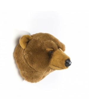 WILD & SOFT - Trophy in plush - Bear's head - Olivier