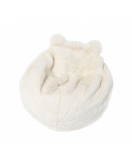 WILD & SOFT - Pouf Ours Polaire - Basile