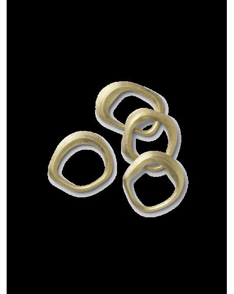 FERM LIVING - Flow Napkin Rings - Set of 4