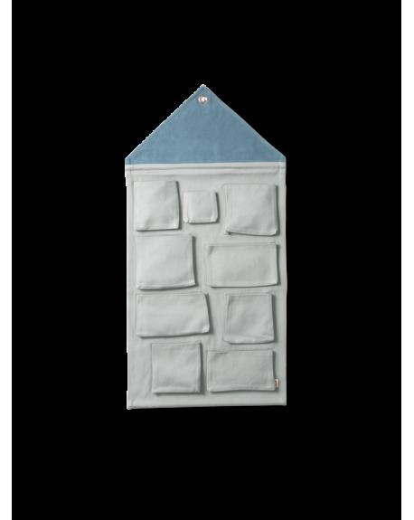 FERM LIVING - Pochette Murale - Grey