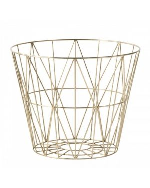 FERM LIVING - Panier Wire - Medium - Doré