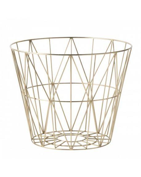 FERM LIVING - Panier Wire - Medium - Doré
