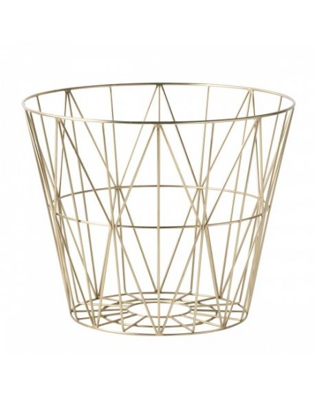 FERM LIVING - Wire Basket - Medium - Gold