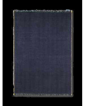 FERM LIVING - Herringbone Blanket - Dark Blue