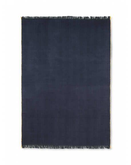 FERM LIVING - Plaid Chevron - Bleu foncé